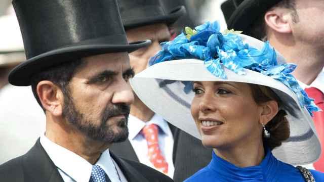 La princesa Haya de Jordania y su exmarido, el emir de Dubái.