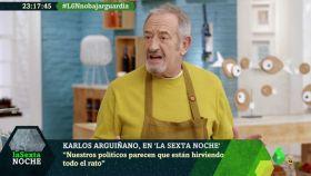 Karlos Arguiñano ha aparecido en 'La Sexta Noche'.