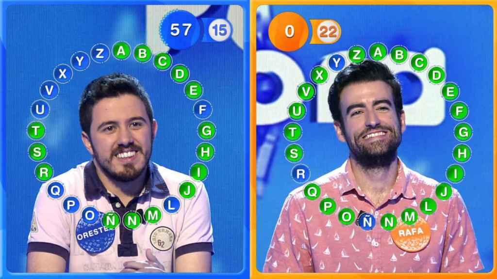 Rafa y Orestes fueron los últimos concursantes de 'Pasapalabra' en Telecinco.