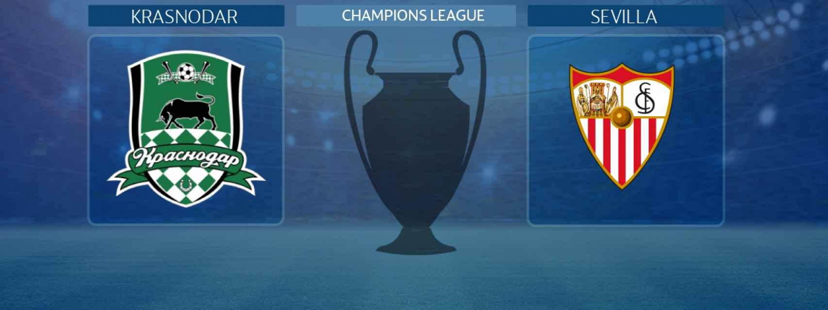 Krasnodar - Sevilla, partido de la Champions League