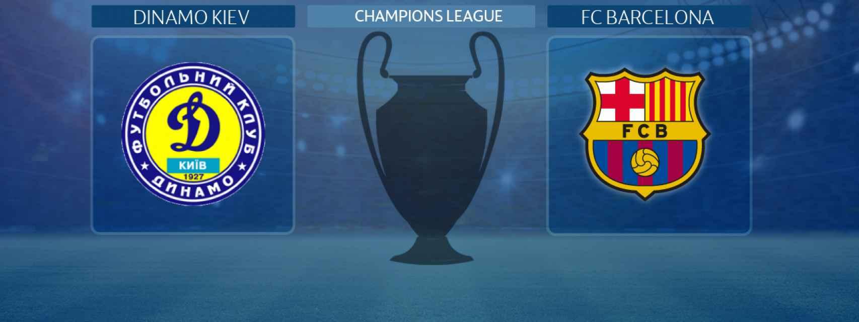 Dinamo Kiev - FC Barcelona, partido de la Champions League