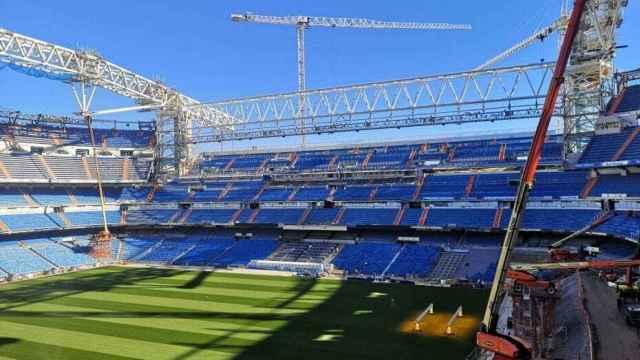 Las obras del Estadio Santiago Bernabéu a finales de noviembre. Foto: nuevoestadiobernabeu