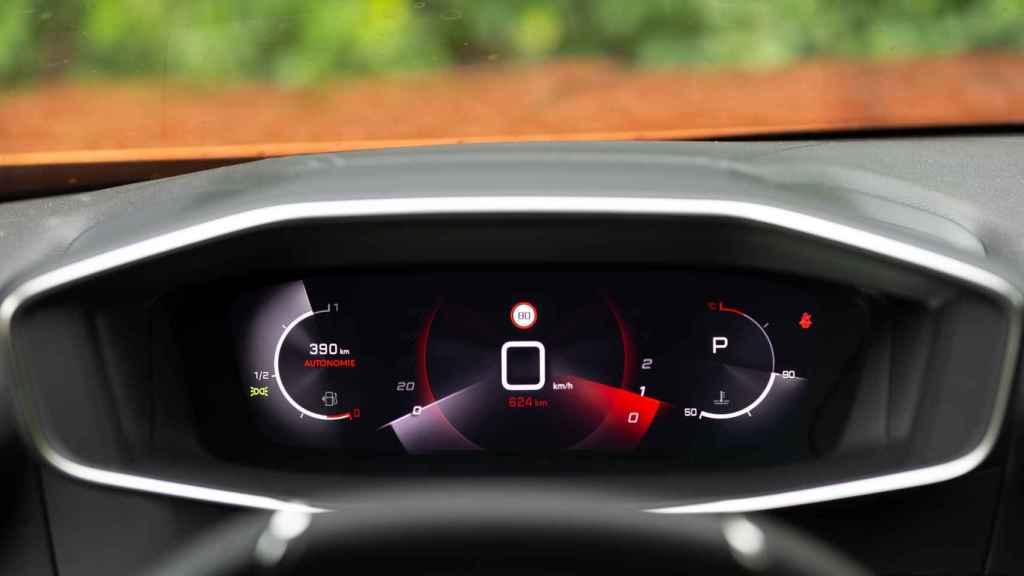 Así es el cuadro digital del Peugeot 2008.