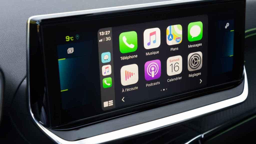 Imagen de la pantalla central del Peugeot 2008.
