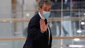 El expresidente francés, Nicolas Sarkozy, a su llegada al tribunal.