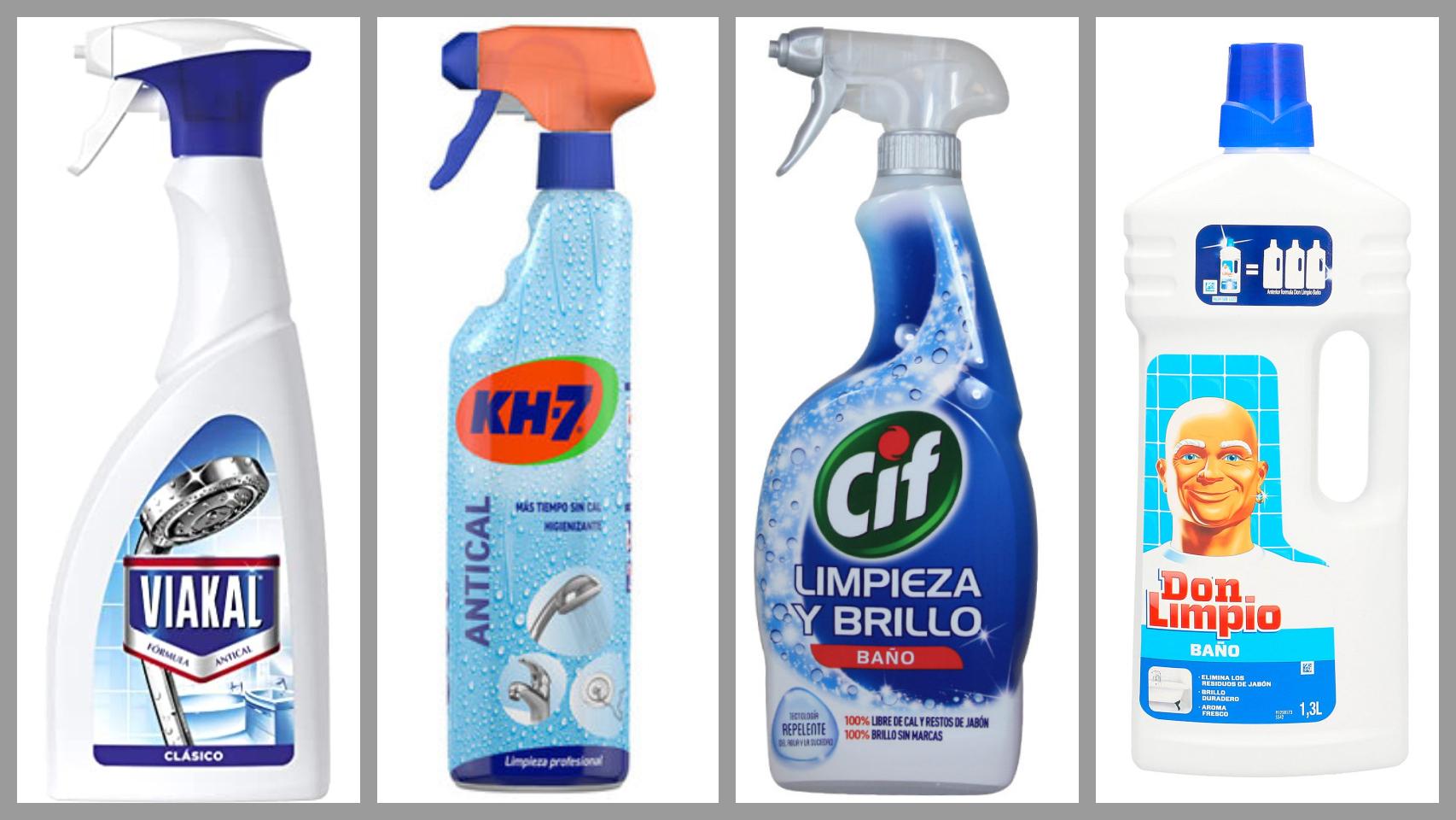 Algunos de los limpiadores de baño por menos de tres euros de OCU