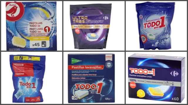 Los 7 mejores detergentes de marca blanca para lavavajillas, según la OCU: de 2 a 7€