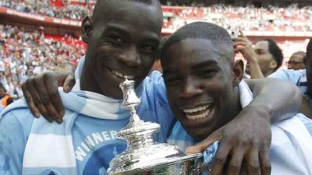 Mario Balotelli y Micah Richards