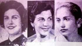 Por orden: Patria, Minerva y María Teresa Mirabal. 'Las Mariposas' asesinadas en 1960 por Trujillo.