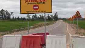 Imagen del corte en la carretera provincial Ba 078 de Higuera de Vargas.