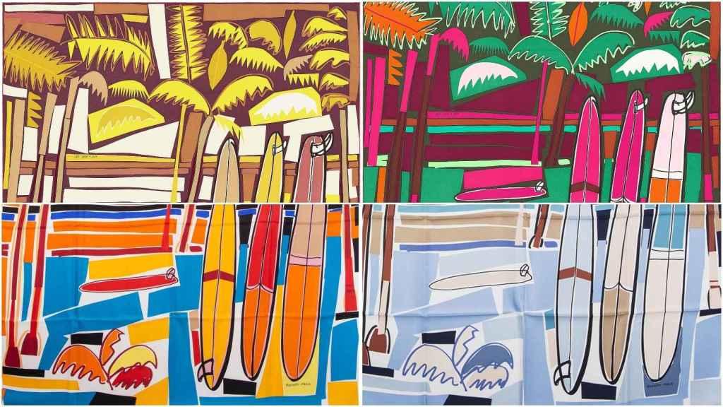 Detalles de algunos diseños de Filipe Jardim para Hermès (Sea, surf & fun).