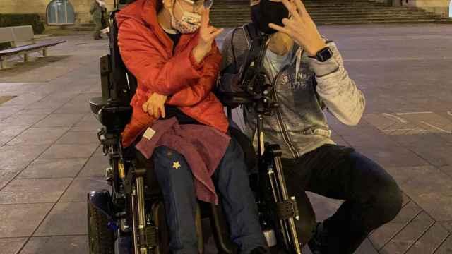 Janire y Raúl Pérez, el corredor que va a correr porque se haga justicia con la joven