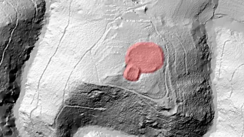 Imagen con tecnología LiDAR de la fortaleza altomedieval.
