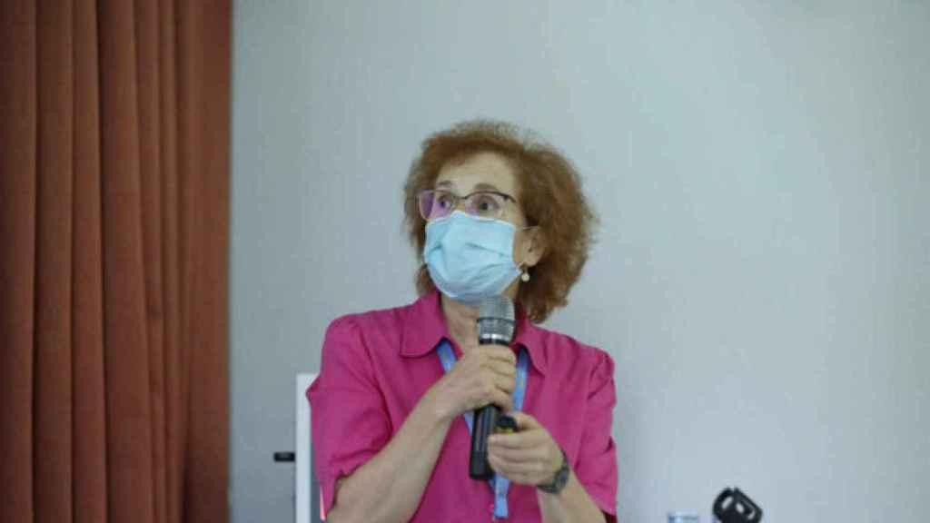 Margarita del Val, en una charla del Severo Ochoa.