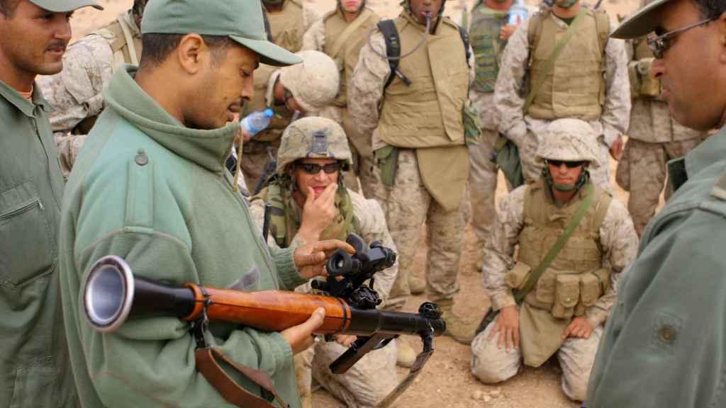 Marines estadounidenses entrenan a militares marroquíes en una imagen de archivo.