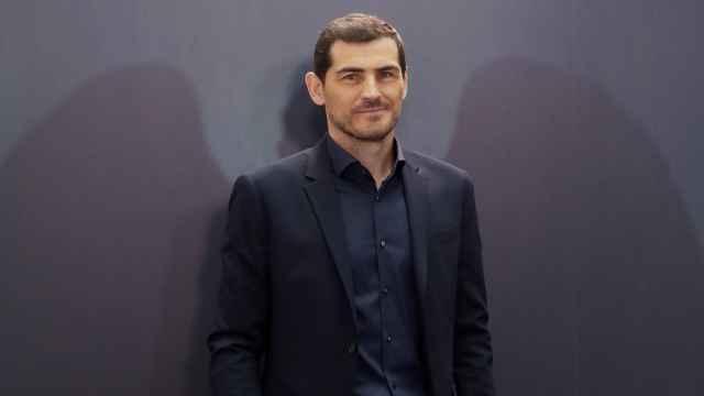 Iker Casillas, durante la presentación de 'Colgar las alas'