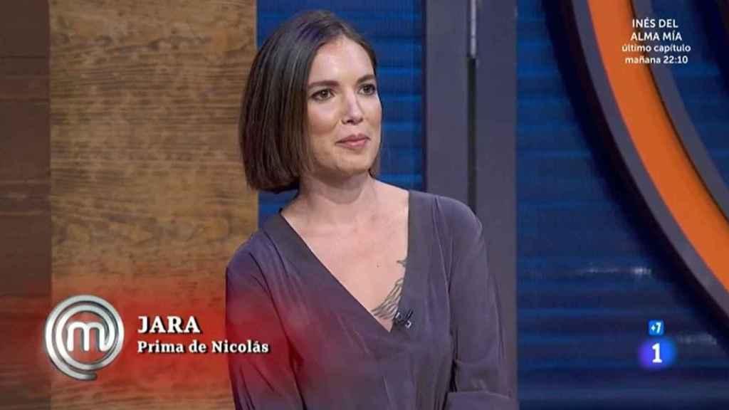 Jara, la prima de Nicolás Coronado, en 'MasterChef Celebrity'.