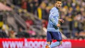 David Villa durante un partido con el New York City