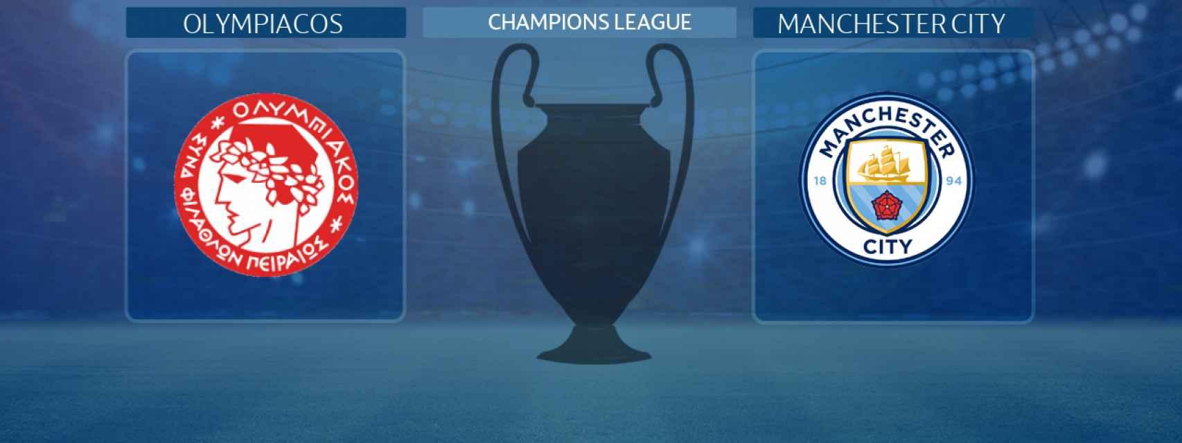 Olympiacos - Manchester City, partido de la Champions League