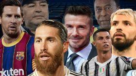 Messi, Maradona, Sergio Ramos, Beckham, Pelé, Cristiano Ronaldo y el 'Kun' Agüero