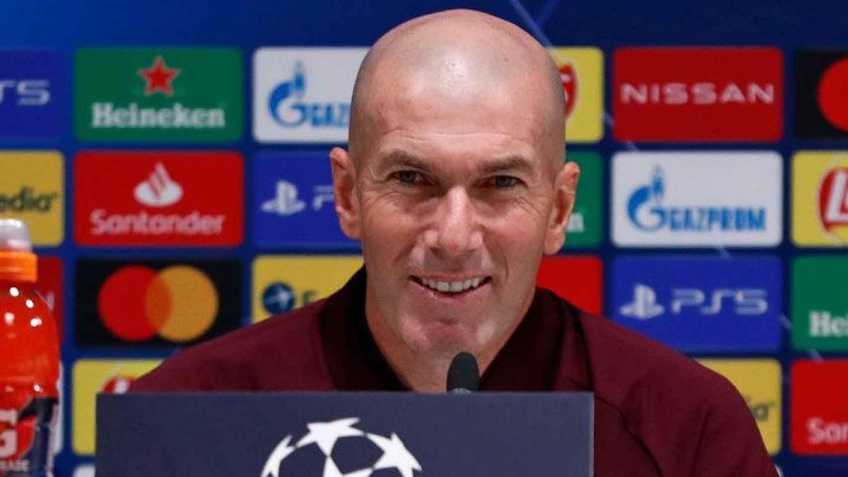 Zidane, en rueda de prensa de la Champions League 2020/2021