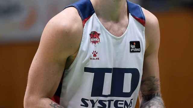 Luca Vildoza, durante un partido de Baskonia