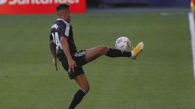 Mariano Díaz, durante un partido del Real Madrid
