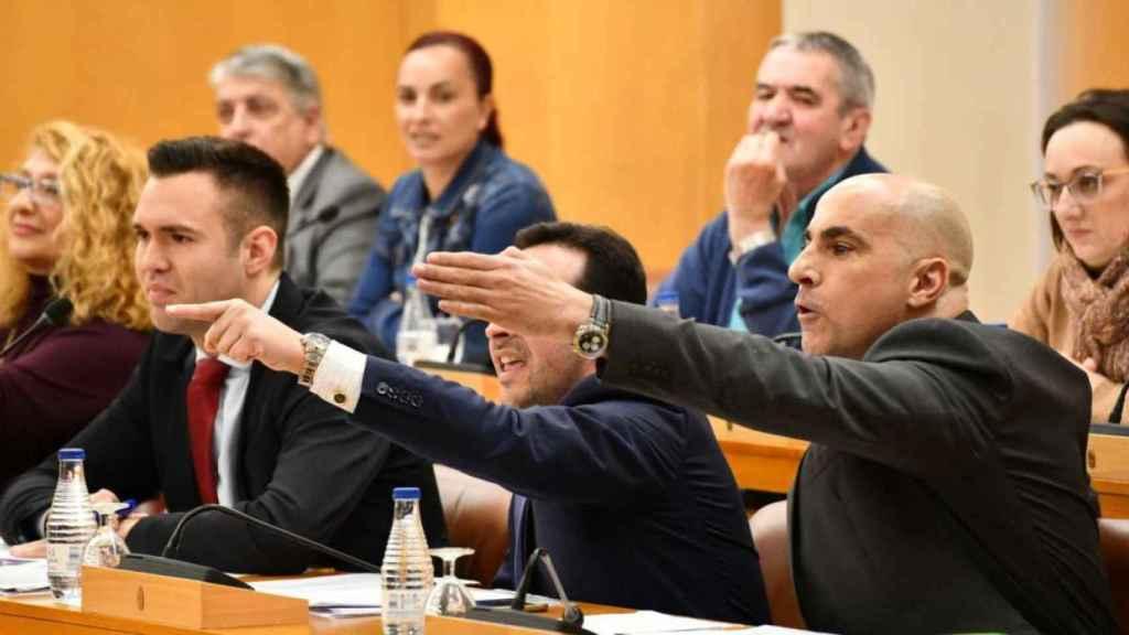 Diputados de Vox en la Asamblea de Ceuta.