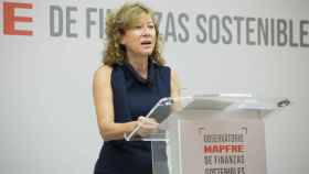Margarita Delgado, durante su participación en el  I Foro del Observatorio Mapfre de Finanzas Sostenibles.