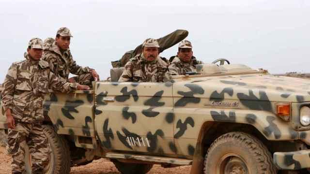 Miembros del Ejército marroquí en una operación militar.