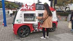 Vehículo autónomo del KFC en Shanghái