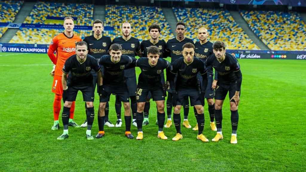 Once del Barça ante el Dinamo de Kiev