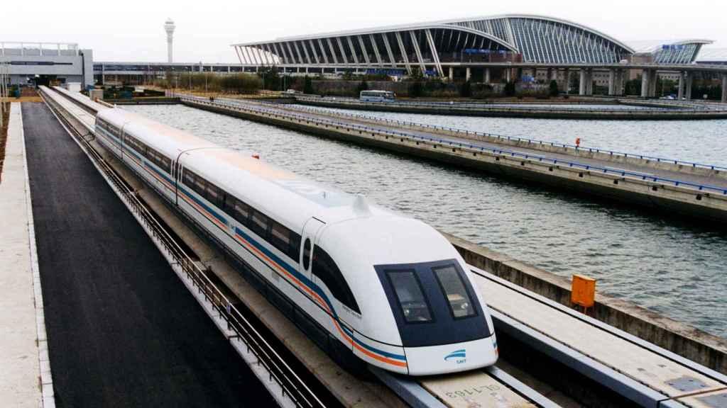 Tren de levitación magnética chino
