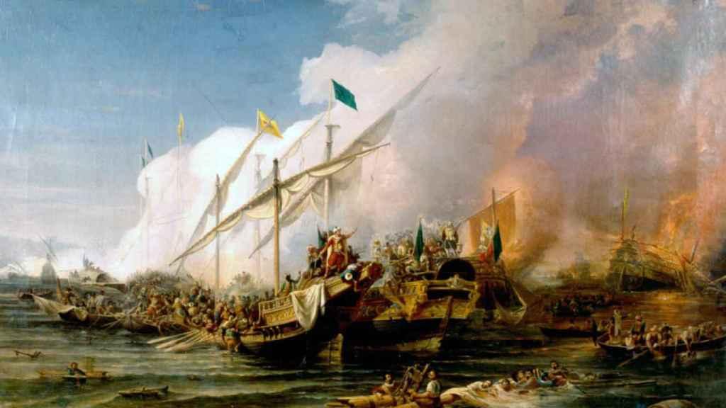 Batalla de Préveza, donde la flota de Carlos V fue vencida por los otomanos.