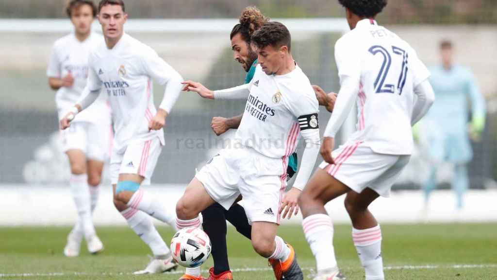 Antonio Blanco, durante el partido del Real Madrid Castilla ante el Atlético Baleares