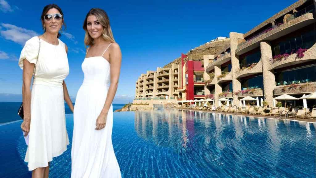 Paz Padilla y su hija, Anna Ferrer, se alojan en uno de los hoteles más lujosos de Gran Canaria.