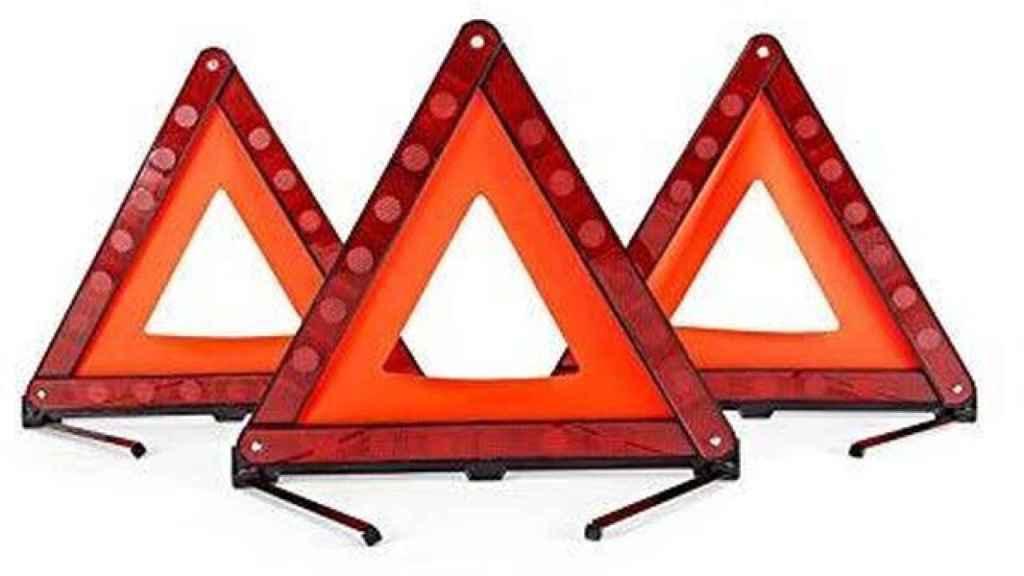 Los clásicos triángulos de emergencia.