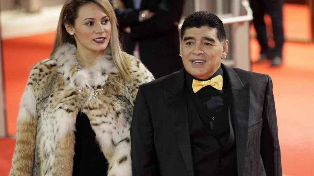 Maradona y Rocío Oliva, en 2018.