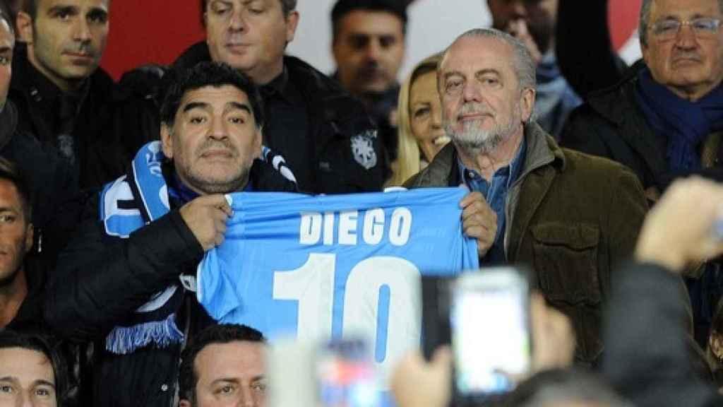 Maradona con De Laurentiis
