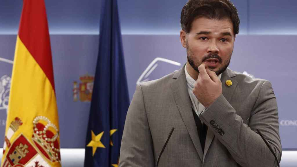 El portavoz de ERC en el Congreso, Gabriel Rufián.