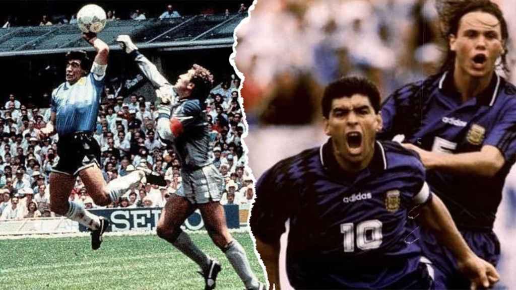 La 'mano de Dios' en el Mundial de 1986 y la celebración del gol ante Nigeria en el Mundial 1994