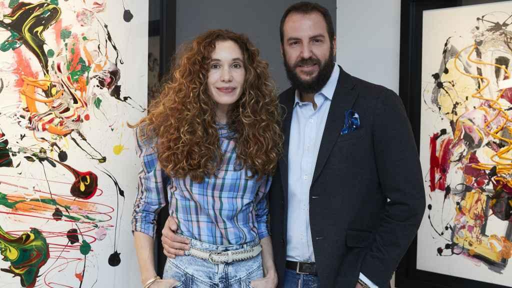 Borja Thyssen y Blanca Cuesta, durante una exhibición en Madrid.
