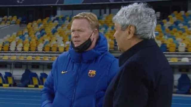 Koeman habla con Lucescu