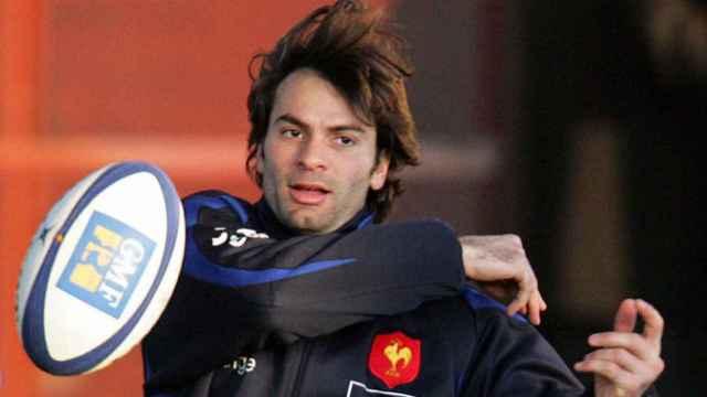 Christophe Dominici, con el chándal de la selección de rugby de Francia