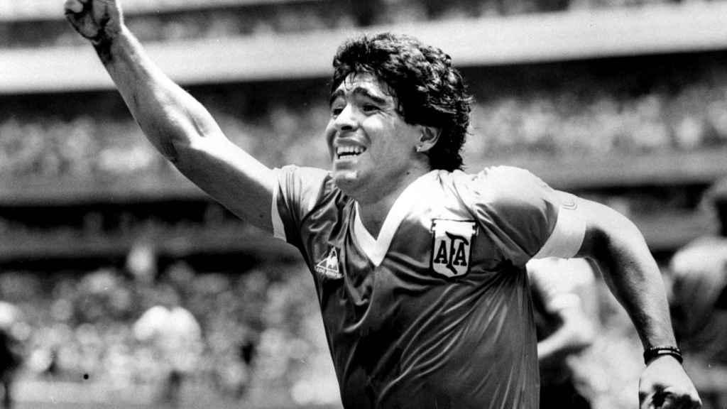 Diego Armando Maradona, tras marcar el gol a Inglaterra en el Mundial de 1986