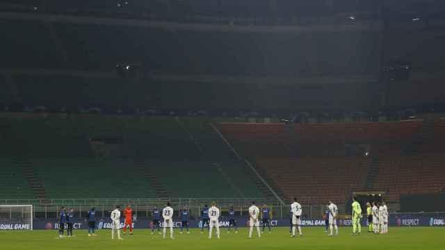 Minuto de silencio en el Inter de Milan - Real Madrid