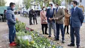 El presidente del PP de Castilla-La Mancha, Paco Núñez, este miércoles en la localidad ciudadrealeña de Membrilla