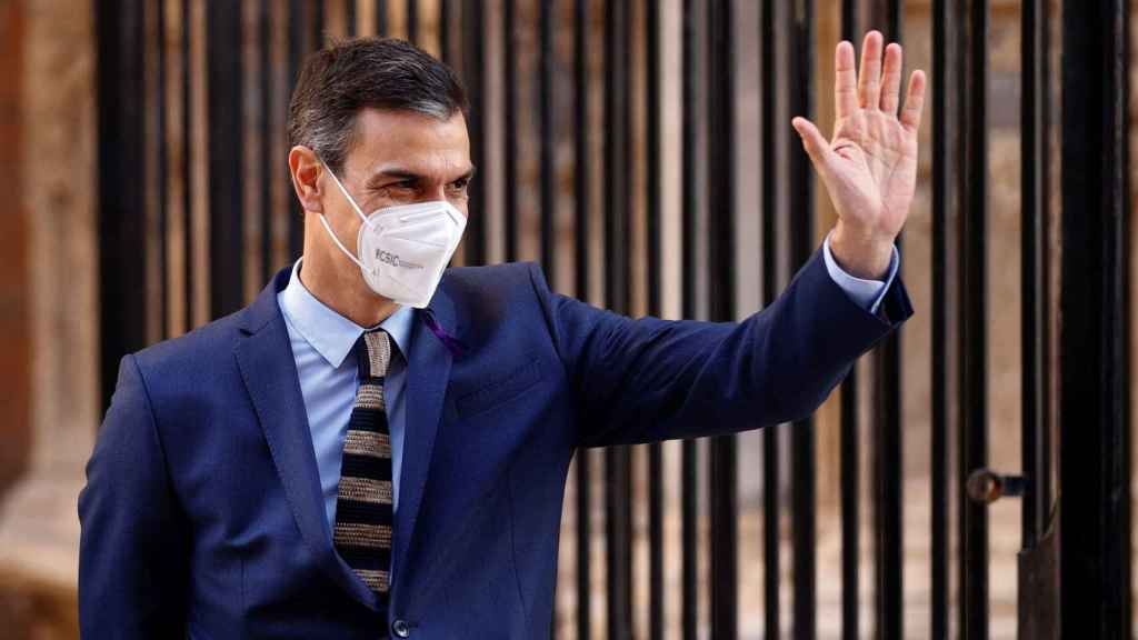 Pedro Sánchez, este miércoles durante la Cumbre Hispano-Italiana en Mallorca.