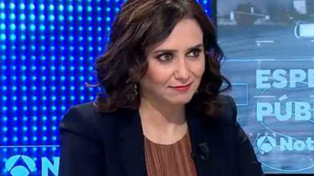 La presidenta de la Comunidad de Madrid, Isabel Díaz Ayuso, en Antena 3.