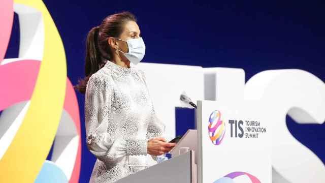 LaReina Letiziaeste miércoles en Sevilla en la inauguración del congresoTourism Innovation Summit.